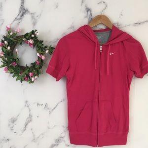 Nike Short Sleeve Athletic Hoodie